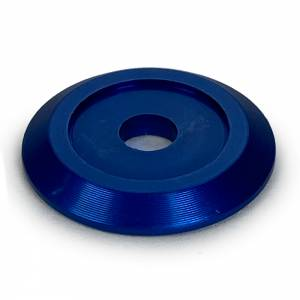 DIRT DEFENDER RACING PRODUCTS #3007 Body Washer Blue Alum (20pk) Anodized