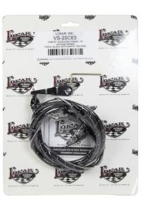 LOKAR #VS-20C65 Vintage Series Ford C-6 Kickdown Cable Black
