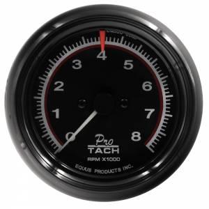 EQUUS #E6088 3-3/8 Dia Tachometer 8000 RPM Black Dial