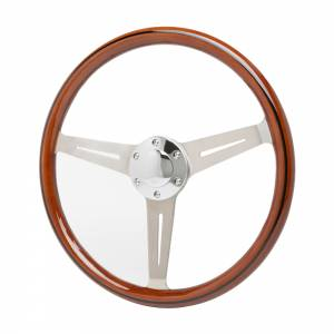 RACING POWER CO-PACKAGED #R5872 15in Stainless Steering Wheel