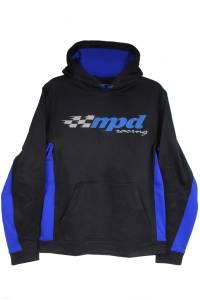 MPD RACING #MPD90300L MPD Sport-Tek Black/Blue Sweatshirt Large