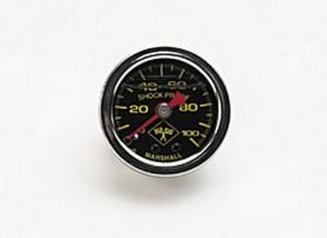 RUSSELL #650320 0-100 PSI Fuel Pressure Gauge Blk Face/Chrm Case