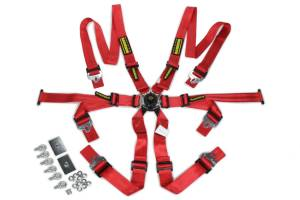 SCHROTH RACING #sr 94530-2 6pt Harness System Flexi Red FIA HANS