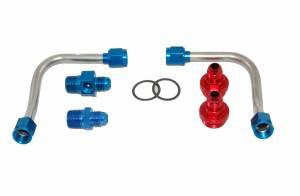 ADVANCED ENGINE DESIGN #60940 S/S Fuel Line Kit - 4500 w/Holley Regulator