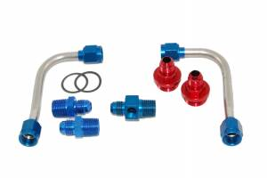 ADVANCED ENGINE DESIGN #60941 S/S Fuel Line Kit - 4150 w/Holley Regulator