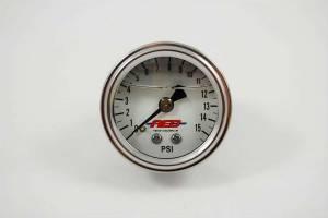 ADVANCED ENGINE DESIGN #6101 1-1/2 Fuel Press. Gauge 0-15psi Liquid Filled