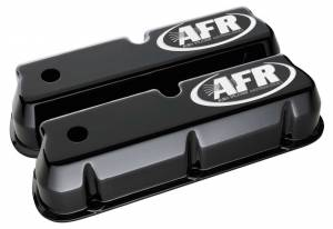 AIR FLOW RESEARCH #6715 SBF Tall Alum Valve Cvr Black w/AFR Logo