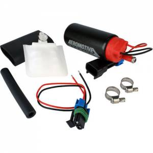 AEROMOTIVE #11542 340 Stealth Fuel Pump - Offset Inlet - Inline