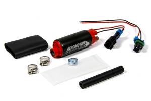 AEROMOTIVE #11569 340 Stealth Fuel Pump - Center In/Offset Out E85