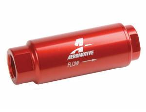 AEROMOTIVE #12303 Fuel Filter w/40-Micron Fabric Element