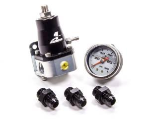 AEROMOTIVE #13130 EFI Regulator & Gauge Kit w/Fittings