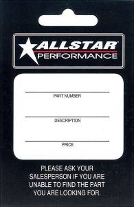 ALLSTAR PERFORMANCE #ALL040 Allstar Hang Tag 100 Pack