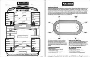ALLSTAR PERFORMANCE #ALL045 Circle Track Set Up Sheets