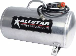 ALLSTAR PERFORMANCE #ALL10534 Aluminum Air Tank 9x20 Horizontal 5 Gallon
