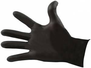 ALLSTAR PERFORMANCE #ALL12024 Black Nitrile Gloves Med Chemical Resistant