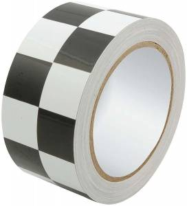 ALLSTAR PERFORMANCE #ALL14149 Racers Tape 2in x 45ft Checkered Black/White