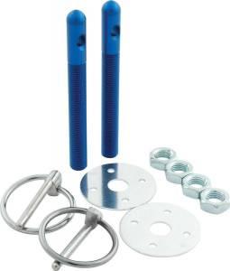ALLSTAR PERFORMANCE #ALL18482 Alum Hood Pin Kit 3/8in Blue