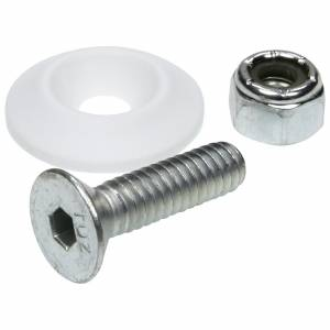 ALLSTAR PERFORMANCE #ALL18681-50 Countersunk Bolt Kit White 50pk
