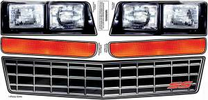 ALLSTAR PERFORMANCE #ALL23014 M/C SS Nose Decal Kit Stock Grille 1983-88