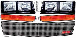 ALLSTAR PERFORMANCE #ALL23038 M/C SS Nose Decal Kit Mesh Grille 1983-88