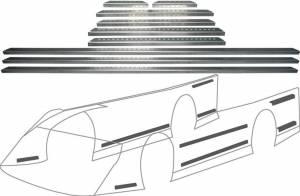 ALLSTAR PERFORMANCE #ALL23107 LM Alum Body Brace Kit