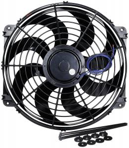 ALLSTAR PERFORMANCE #ALL30076 Electric Fan 16in Curved Blade