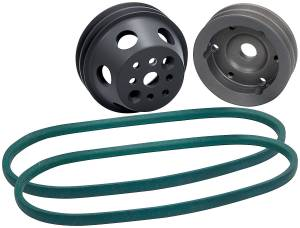 ALLSTAR PERFORMANCE #ALL31093 1:1 Pulley Kit w/o PS Premium