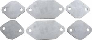 Exhaust Block Off Plates SBC Aluminum