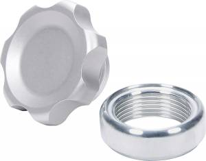 ALLSTAR PERFORMANCE #ALL36160 Filler Cap Silver with Weld-In Alum Bung Small