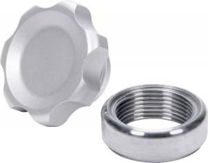 ALLSTAR PERFORMANCE #ALL36161 Filler Cap Silver with Weld-In Steel Bung Small