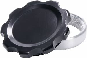 ALLSTAR PERFORMANCE #ALL36175 Filler Cap Black with Weld-In Steel Bung Large