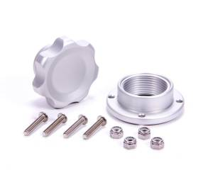 ALLSTAR PERFORMANCE #ALL36180 Filler Cap Silver with Bolt-In Alum Bung Small