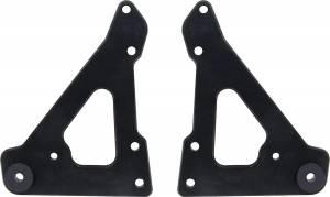 ALLSTAR PERFORMANCE #ALL38145 Front Motor Plate 2pc w/ Bushings Black