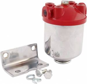 ALLSTAR PERFORMANCE #ALL40250 Fuel Filter Chrome Canister