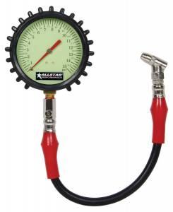 ALLSTAR PERFORMANCE #ALL44046 Tire Pressure Gauge 0-15 PSI 4in Glow