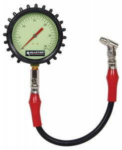 ALLSTAR PERFORMANCE #ALL44047 Tire Pressure Gauge 0-30 PSI 4in Glow