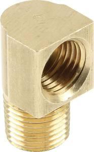 ALLSTAR PERFORMANCE #ALL50125 Adapter Fittings 1/8 NPT to 3/16 90 Deg 4pk
