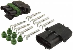 ALLSTAR PERFORMANCE #ALL76267 3-Wire Weather Pack Connector Kit