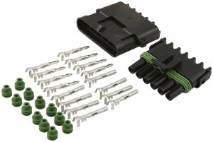 ALLSTAR PERFORMANCE #ALL76270 6-Wire Weather Pack Connector Kit