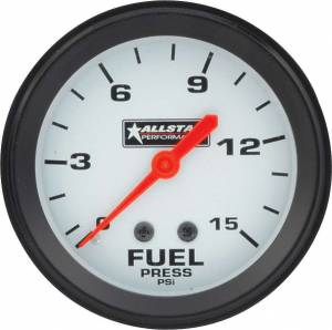 ALLSTAR PERFORMANCE #ALL80098 ALL Fuel Pressure Gauge 0-15PSI 2-5/8in