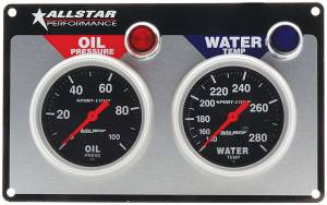 ALLSTAR PERFORMANCE #ALL80110 2 Gauge Panel A/M OP/WT Sport-Comp