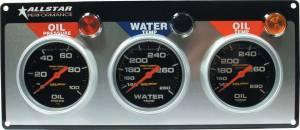 ALLSTAR PERFORMANCE #ALL80122 3 Gauge Panel A/M OP/WT/OT Liquid Filled