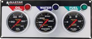 ALLSTAR PERFORMANCE #ALL80123 3 Gauge Panel A/M OP/WT/FP Liquid Filled