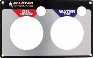 ALLSTAR PERFORMANCE #ALL80125 Repl 2 Gauge Panel OP/WT