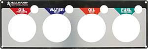 ALLSTAR PERFORMANCE #ALL80128 Repl 4 Gauge Panel OP/WT/OT/FP