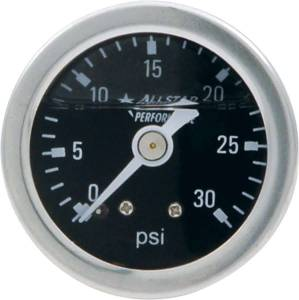 ALLSTAR PERFORMANCE #ALL80202 1.5in Gauge 0-30 PSI Liquid Filled