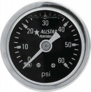 ALLSTAR PERFORMANCE #ALL80204 1.5in Gauge 0-60 PSI Liquid Filled