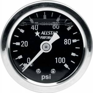 ALLSTAR PERFORMANCE #ALL80206 1.5in Gauge 0-100 PSI Liquid Filled