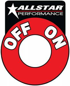 ALLSTAR PERFORMANCE #ALL99045 Repl On/Off Batt Disc Decal