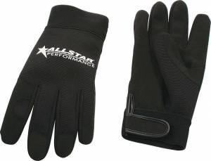 ALLSTAR PERFORMANCE #ALL99941 Allstar Gloves Blk Lg Crew Gloves